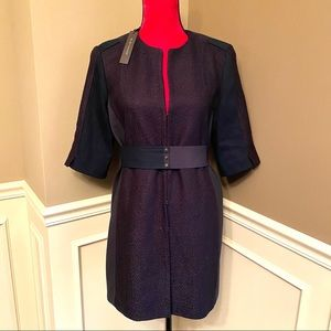 Elie Tahari NAVY Roslyn Coat ((NEW WITH TAG))